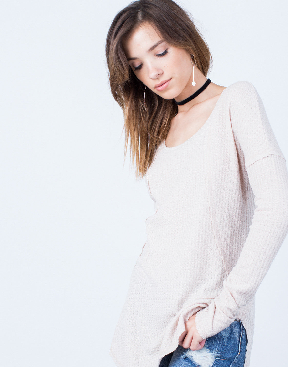 Detail of Laid-Back Sweater Top