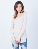 Front View of Laid-Back Sweater Top