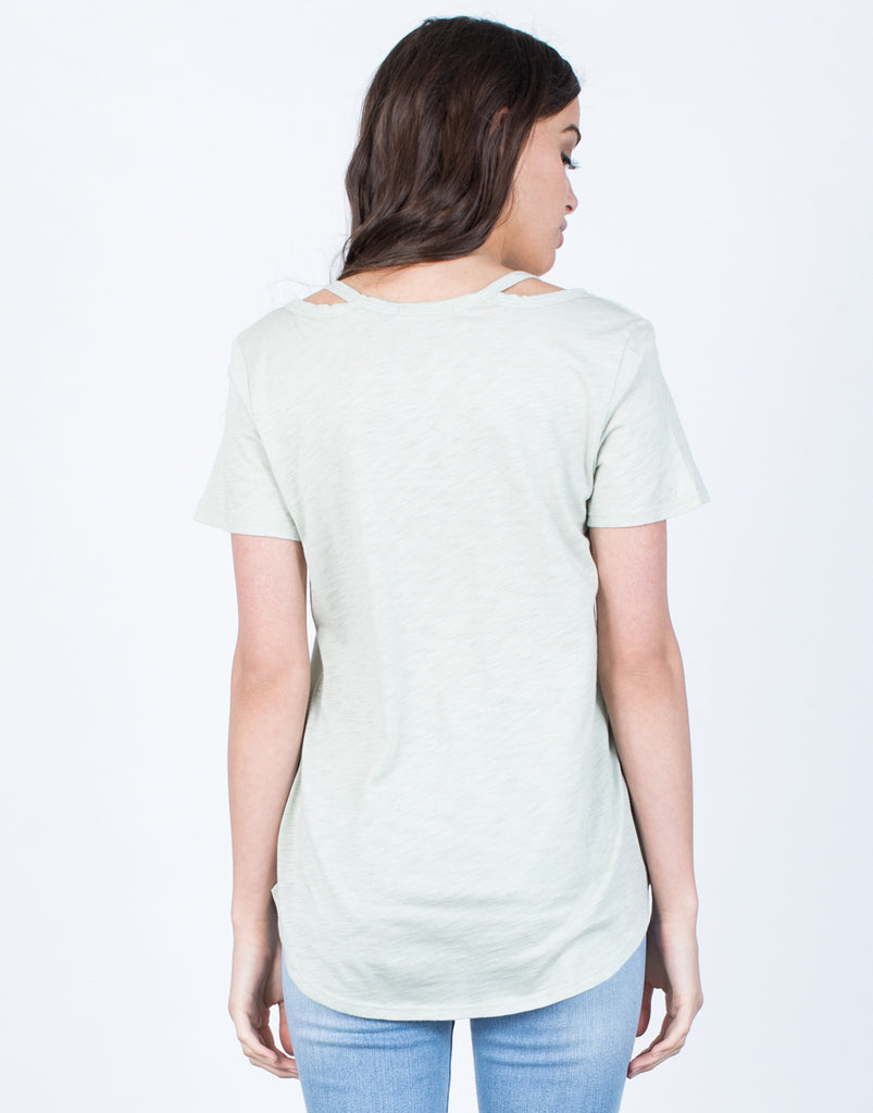 Back View of Laid-Back Tee