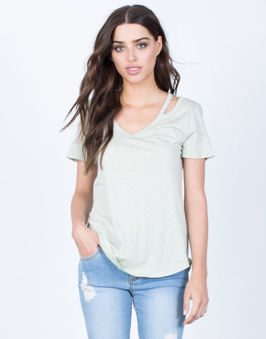 Front View of Laid-Back Tee