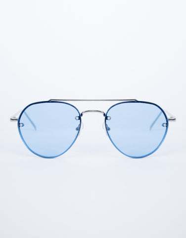 Blue Lainey Colored Aviators - Front View