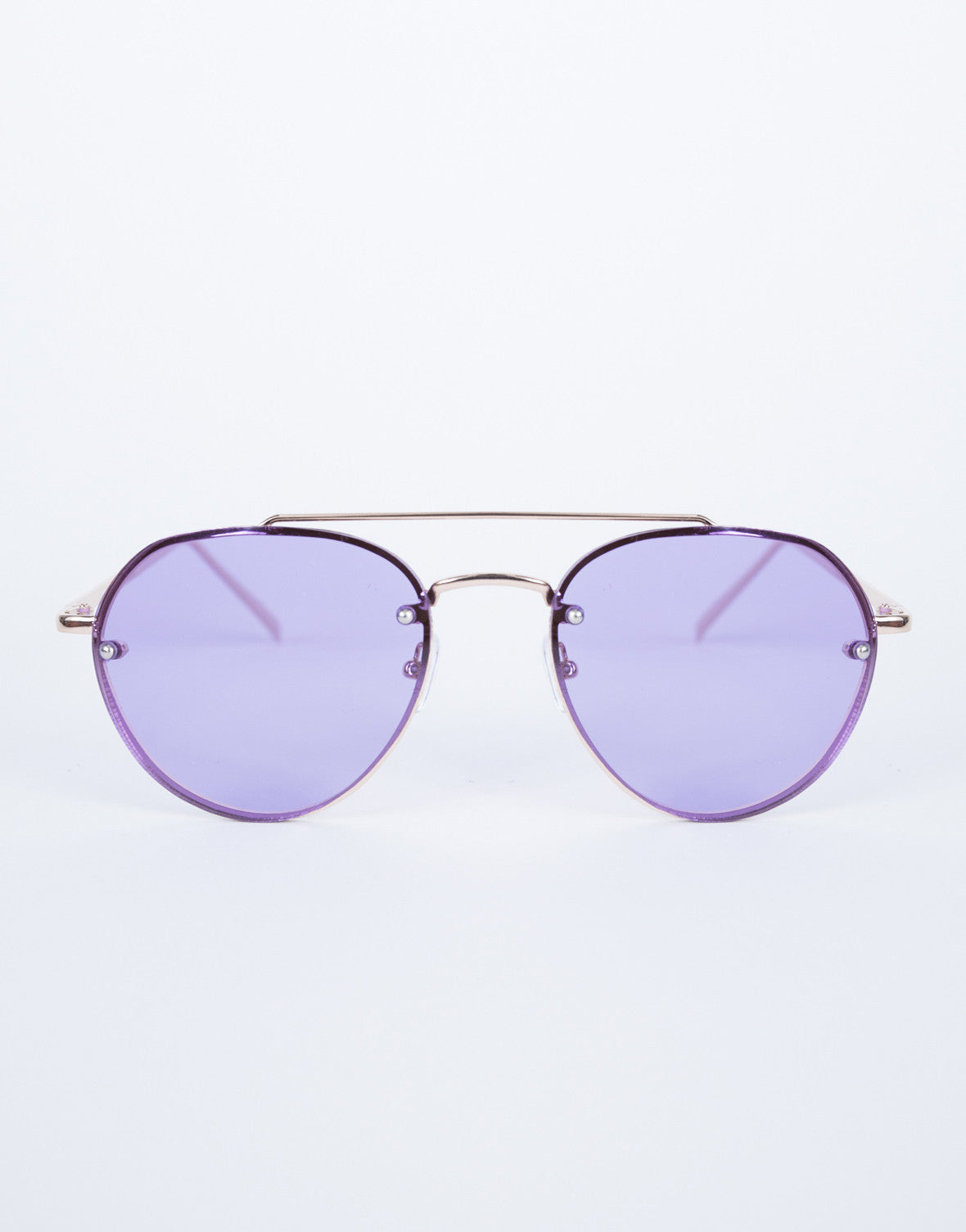 Purple Lainey Colored Aviators - Front View