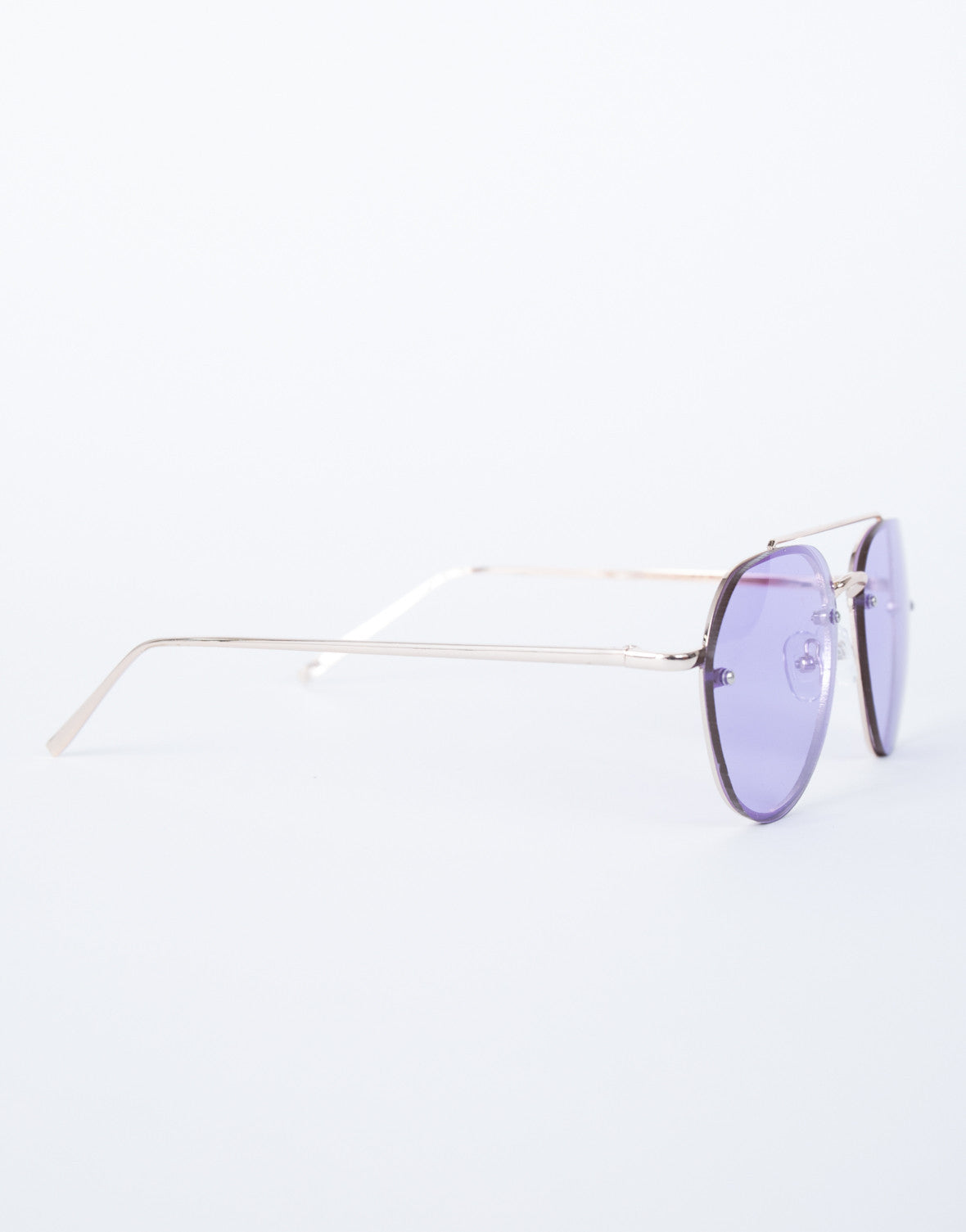 Purple Lainey Colored Aviators - Side View