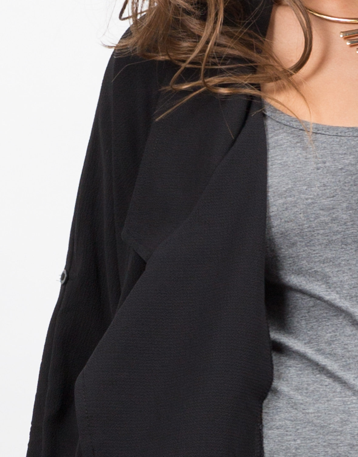Detail of Lapel Trench Jacket