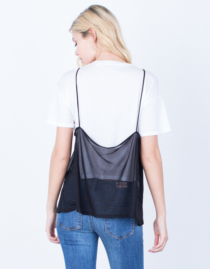 Back View of Layer of Mesh Tee