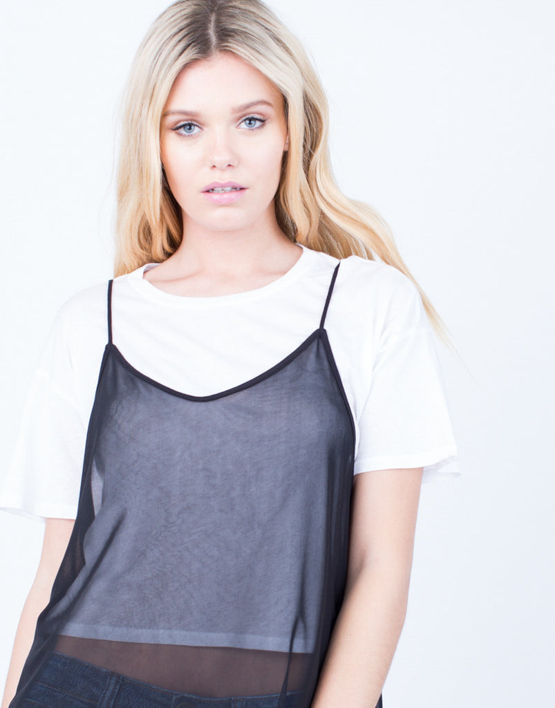Detail of Layer of Mesh Tee