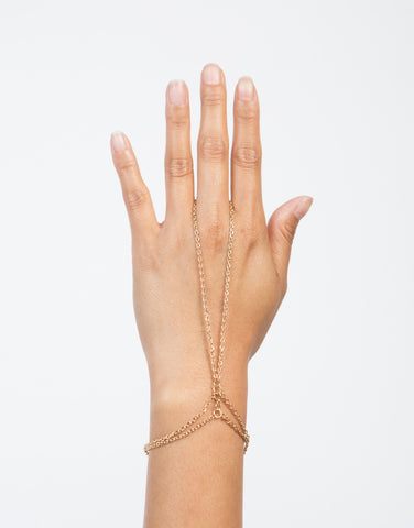 Layered and Linked Hand Chain