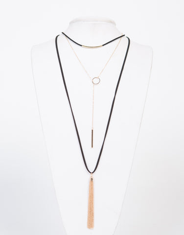 Layered Gold Charms Necklace - 2020AVE