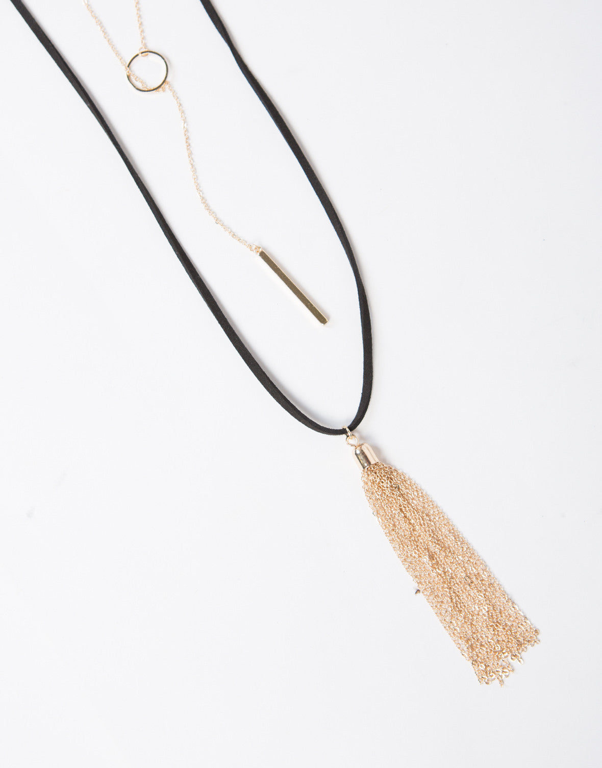 Layered Gold Charms Necklace