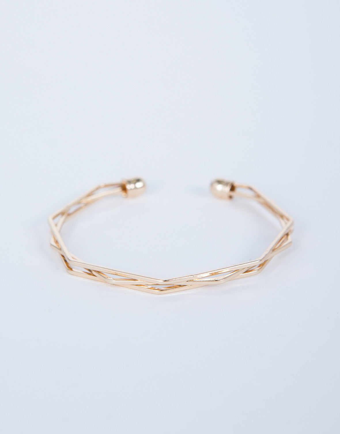 Layered Hexagon Bracelet