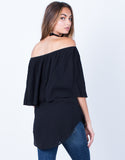 Back View of Layered Off-the-Shoulder Top