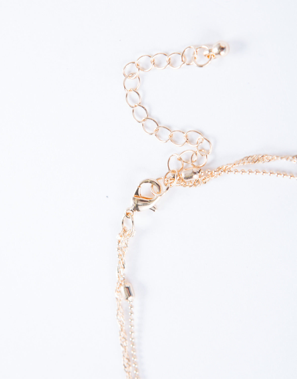 Layered Pendant Chain Choker