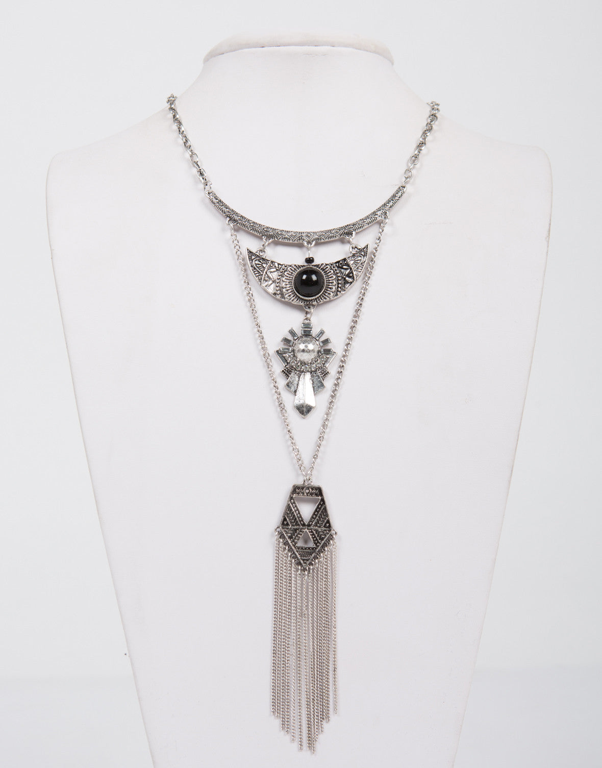 Layered Antique Chandelier Necklace