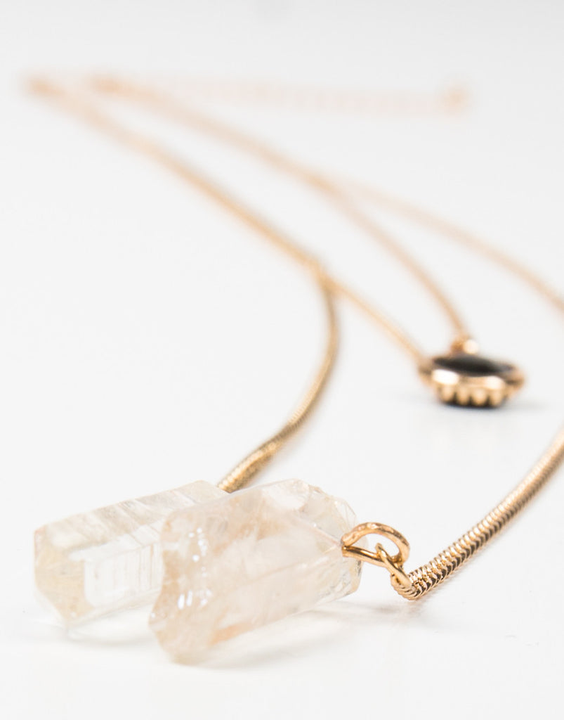 Layered Crystal Jewel Necklace - 2020AVE