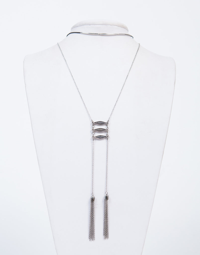 Layered Double Tassel Necklace - 2020AVE