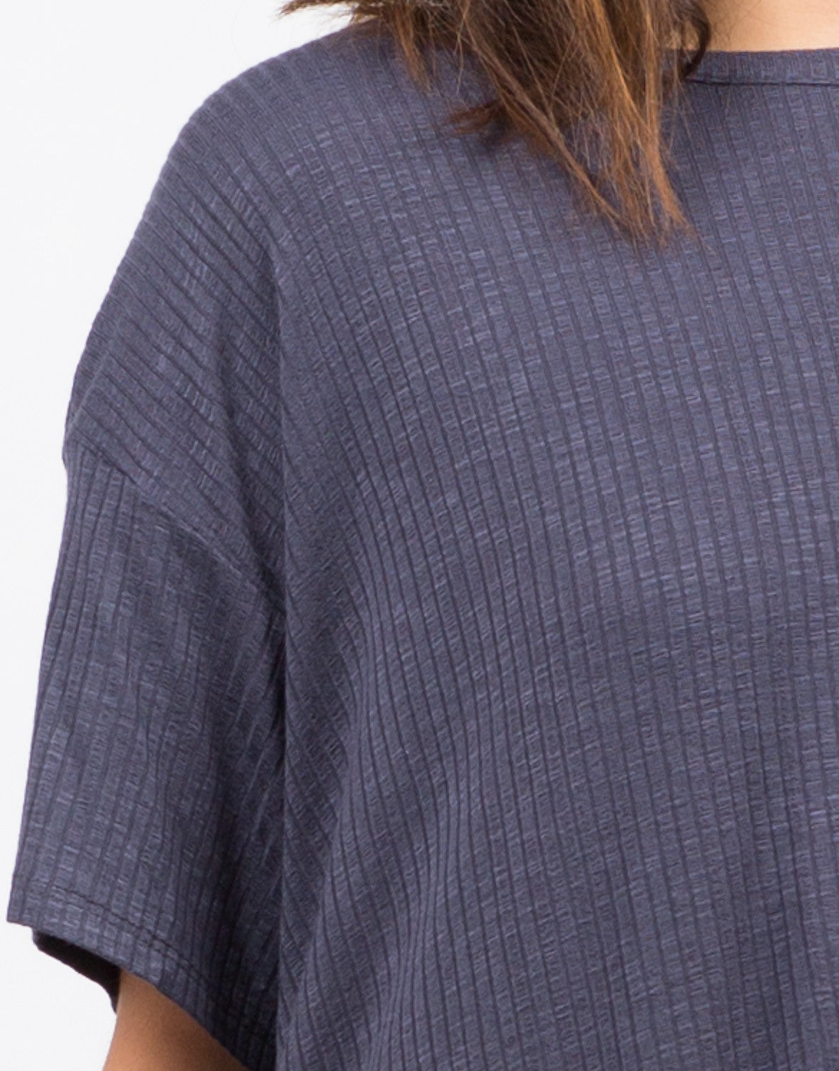 Lazy Sunday Ribbed Tee - 2020AVE