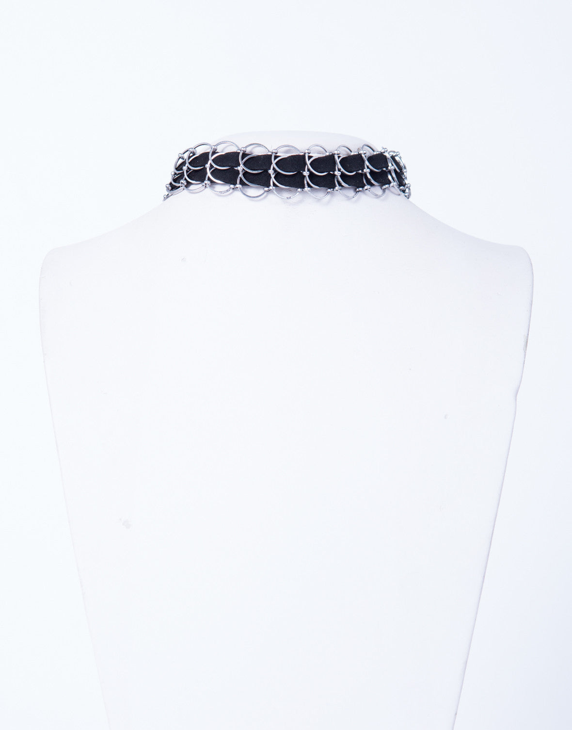 Chained Leather Choker