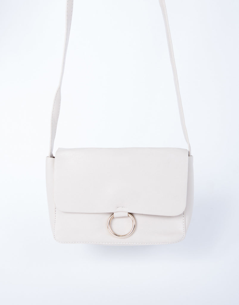 Leather Foldover Crossbody Bag