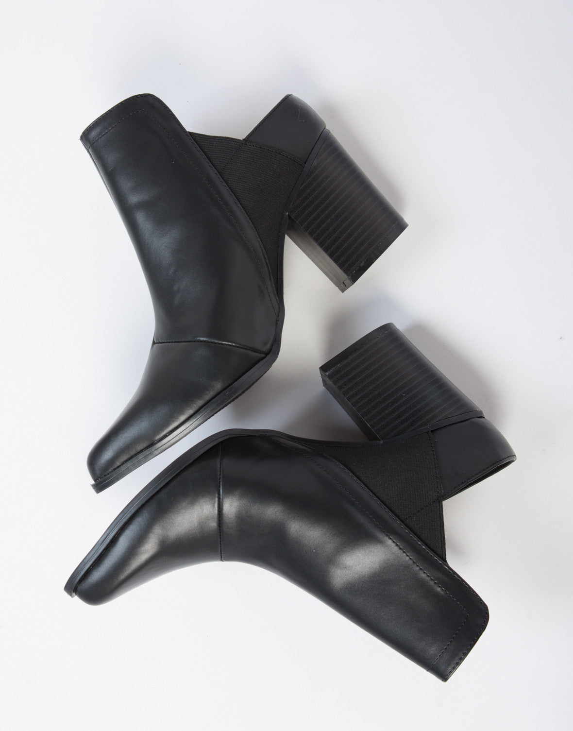 Leather Mule Booties - 2020AVE