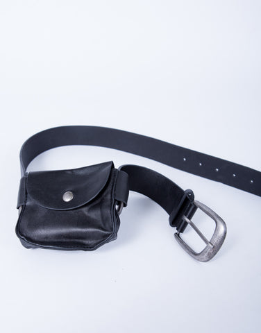 Leather Pocket Pouch Belt