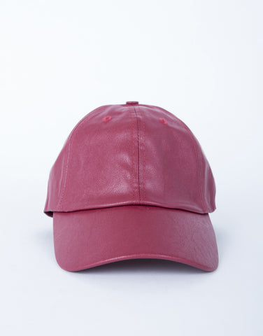 Leather Stitched Baseball Cap