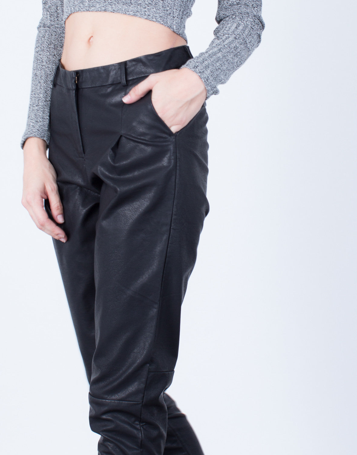 Detail of Leather Trouser Pants
