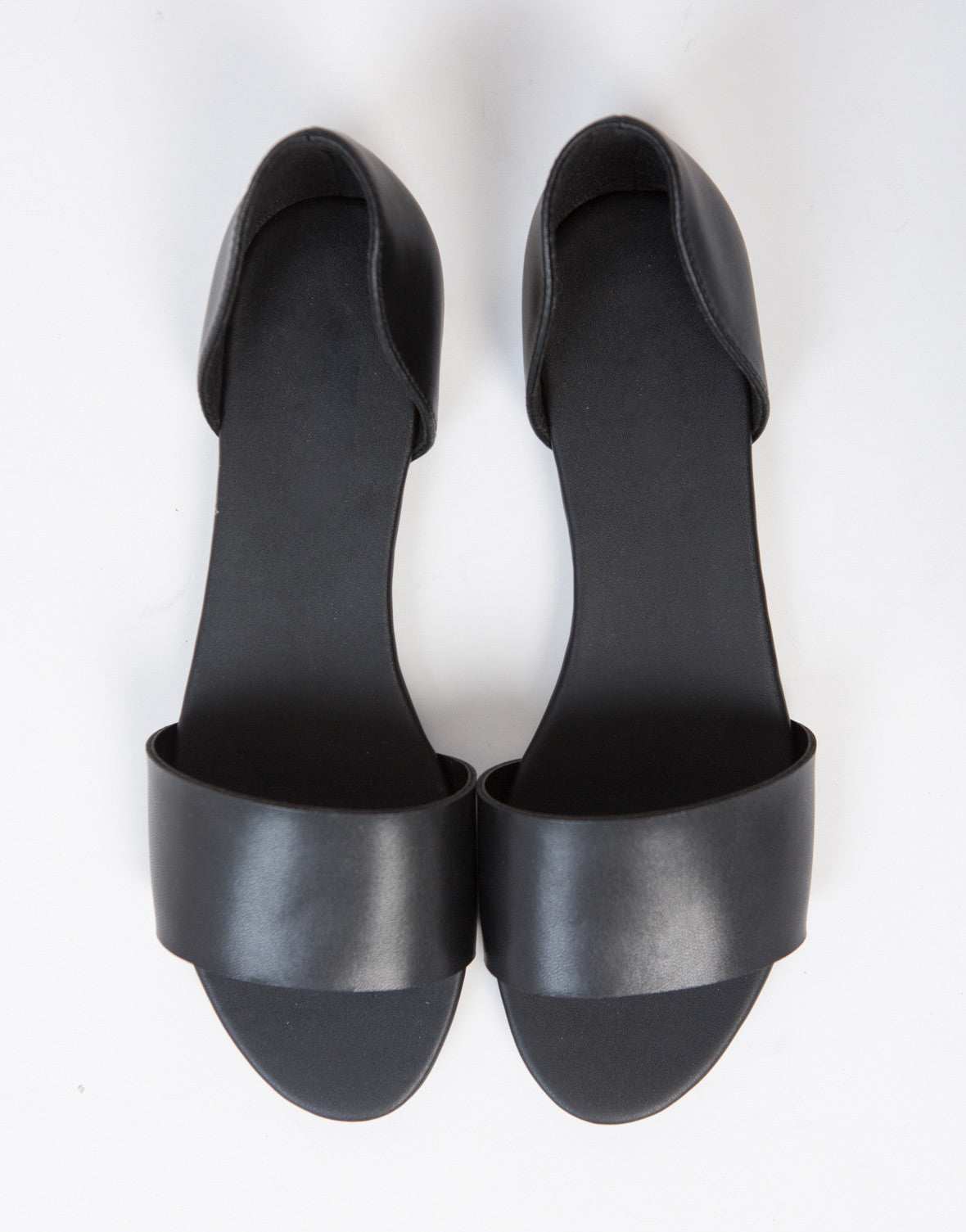 Leatherette D'orsay Flats