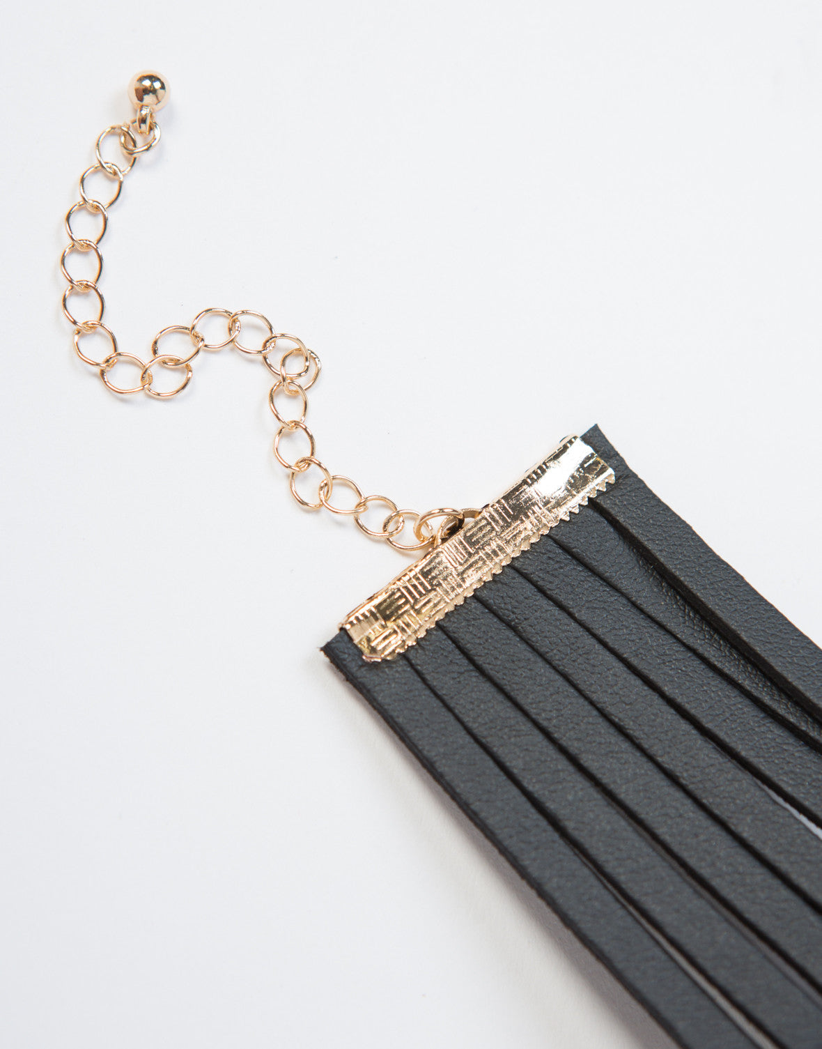 Leatherette Strings Choker Necklace