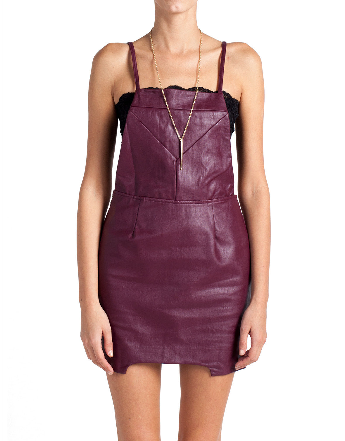 Leather Overall Dress - 2020AVE