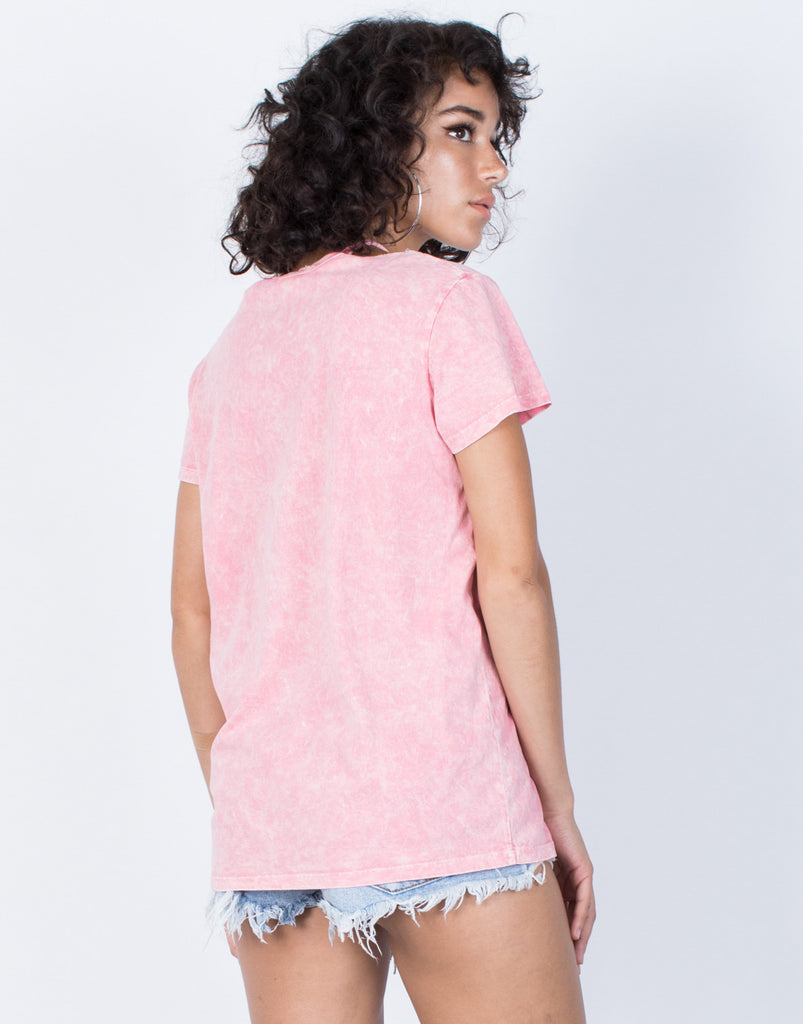 Pink Let's Brunch Tee - Back View