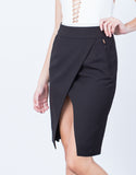 Detail of Let's Split Zipper Skirt