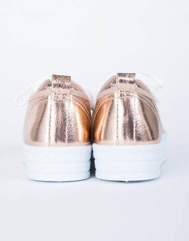 Level Up Metallic Sneakers