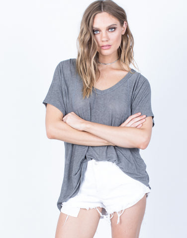 Front View of Light and Easy Tee