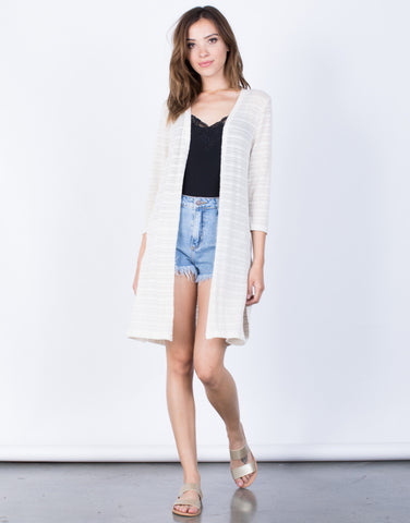 Front View of Light Breeze Knit Cardigan