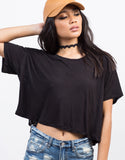 Detail of Light Knit Cropped Tee