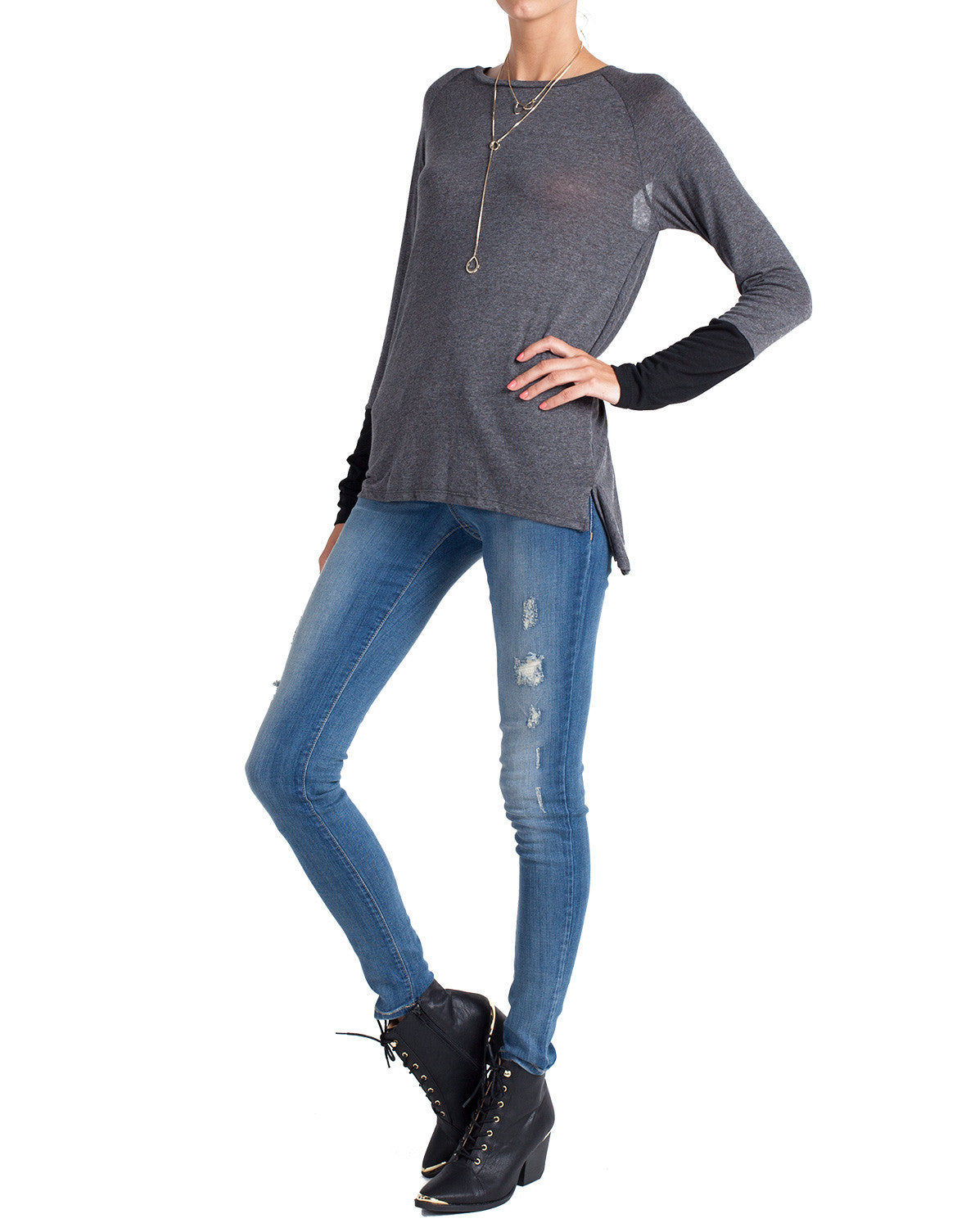 Flying Monkey - Light Distressed Denim Skinnies