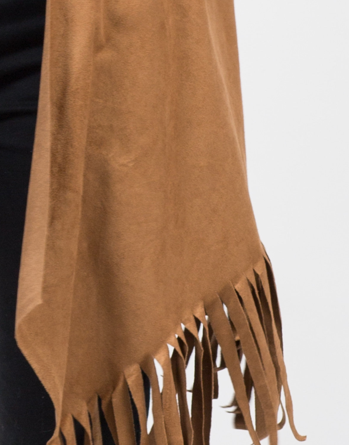 Detail of Light Suede Fringe Jacket