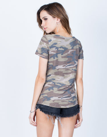 Back View of Lightweight Camo Tee