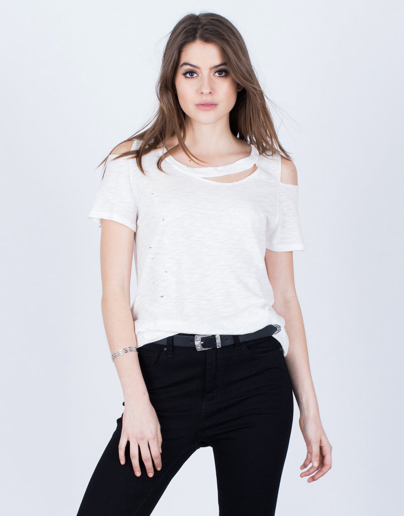 Lightweight Cut Out Tee - 2020AVE