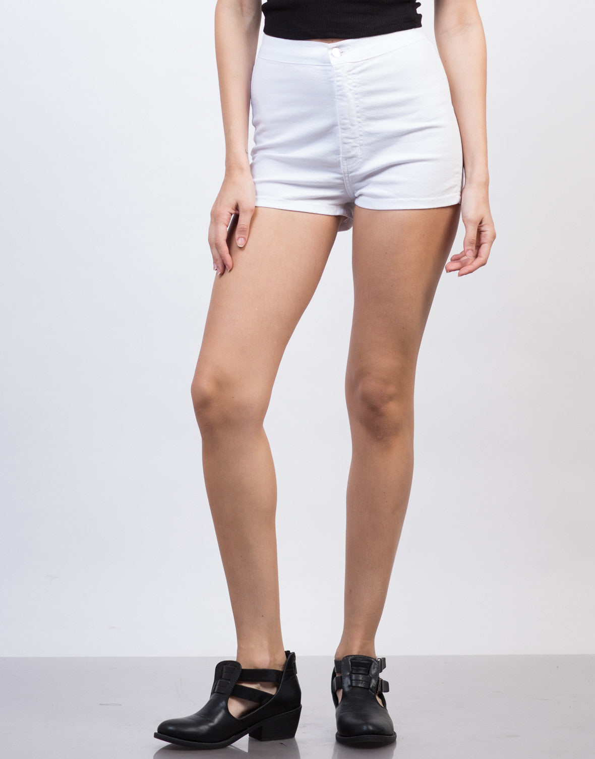 Detail of Lightweight High Waisted Shorts