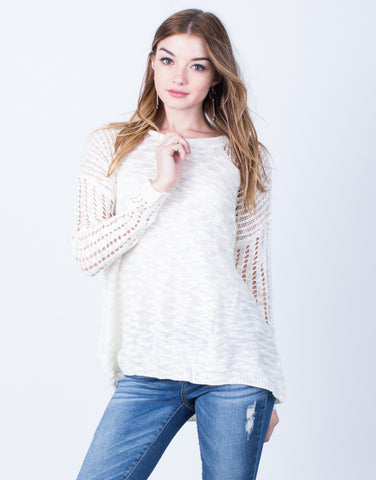 Lightweight Knit Sweater Top