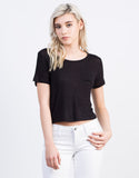 Front View of Lightweight Pocket Cropped Tee