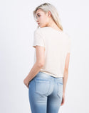 Back View of Lightweight Pocket Cropped Tee