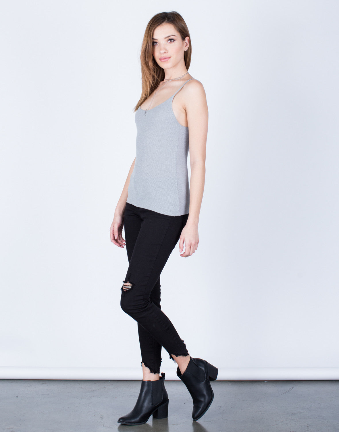 Lightweight Ribbed Cami - 2020AVE