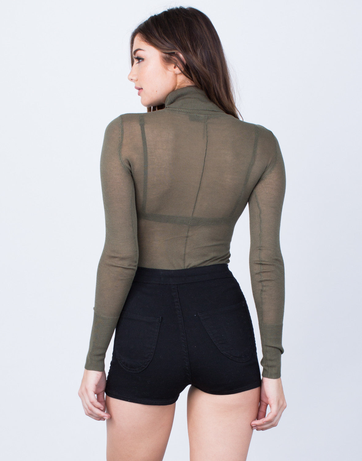 Back View of Lightweight Sweater Bodysuit
