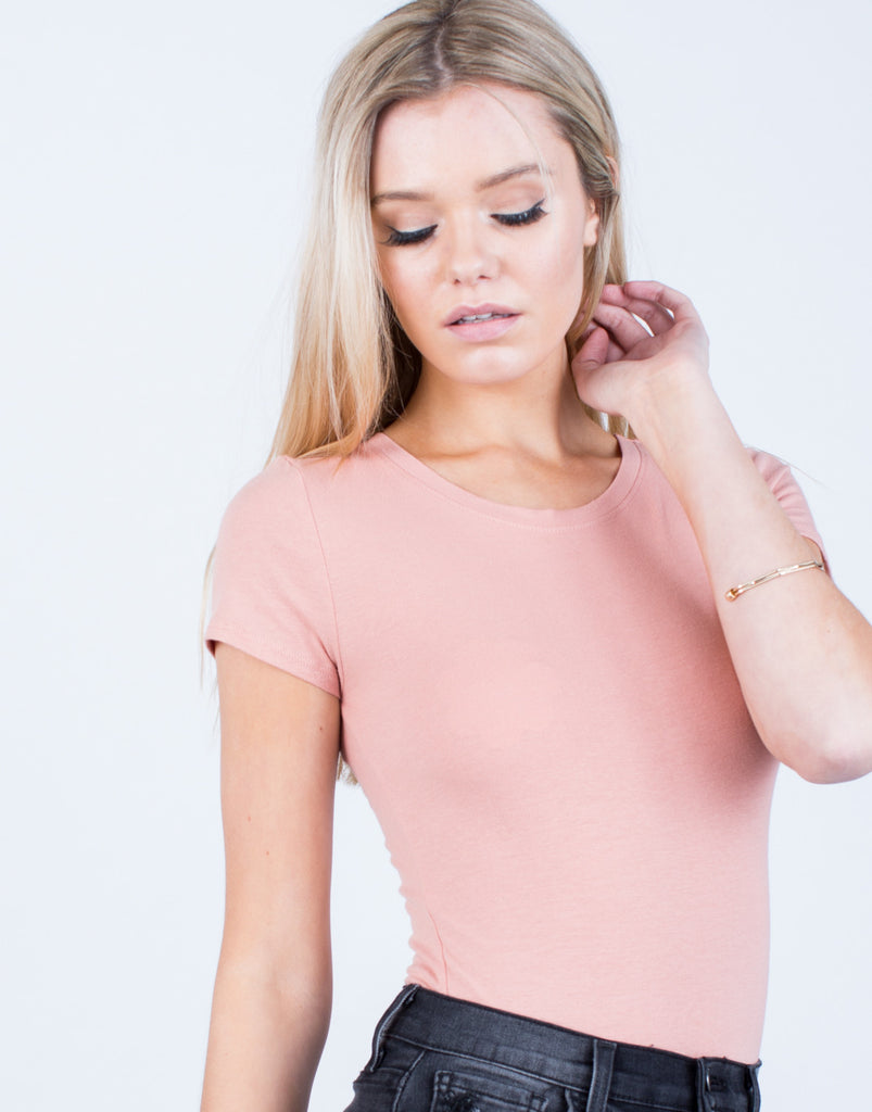 Detail of Lightweight Tee Bodysuit