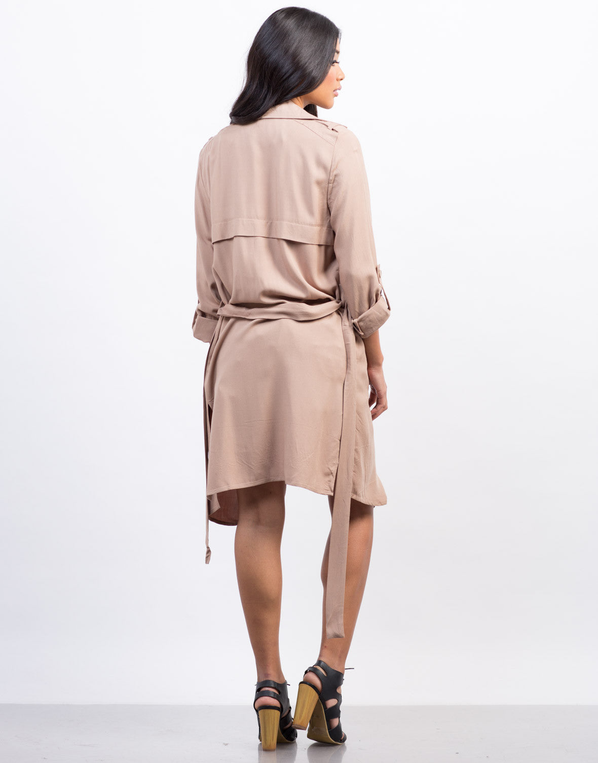 Back View of Lightweight Trench Jacket