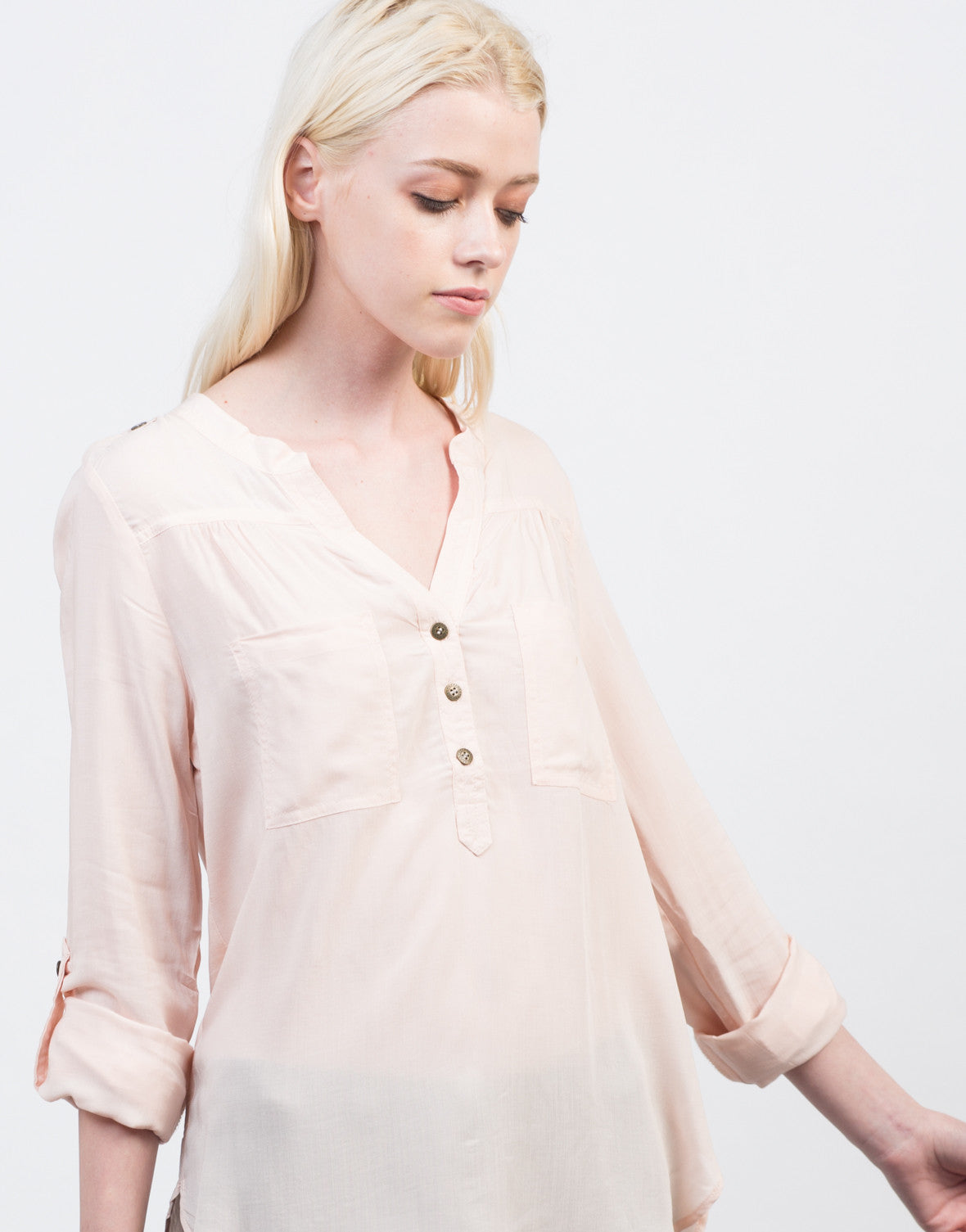 Detail of Lightweight Triple Buttoned Shirt
