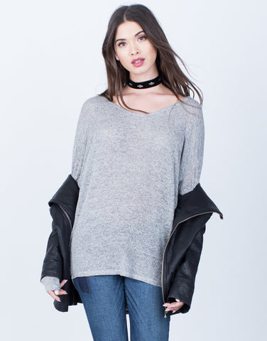 Front View of Lightweight Tunic Top