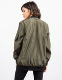 Back View of Lightweight Bomber Jacket